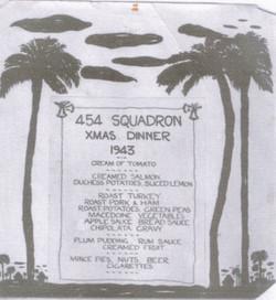 Xmas Dinner Menu 1943