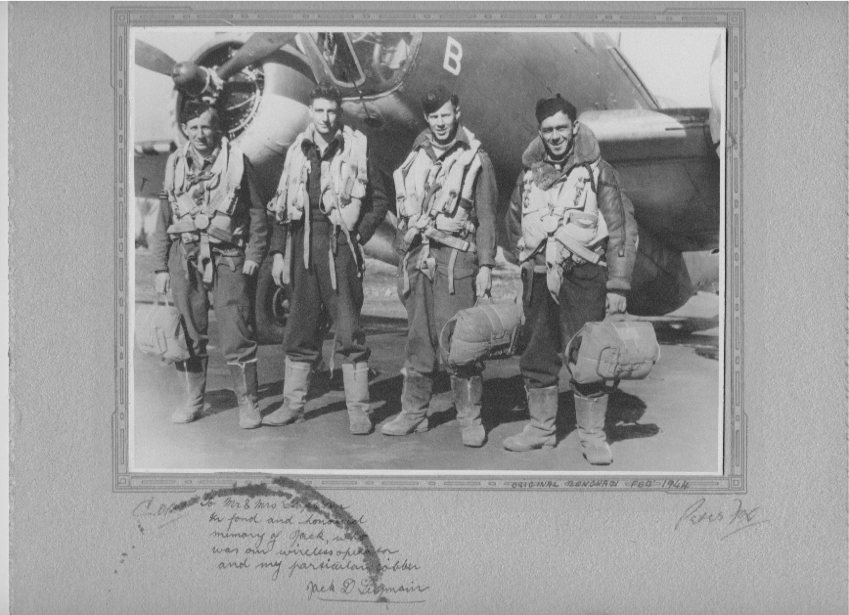 Photo from Jack D Seymour, Flight Crew, Benghazi Feb 1944