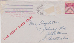 Letter from USO (Brooklyn NY) to Mrs Stapleton, 25 Nov 1942 (envelope)