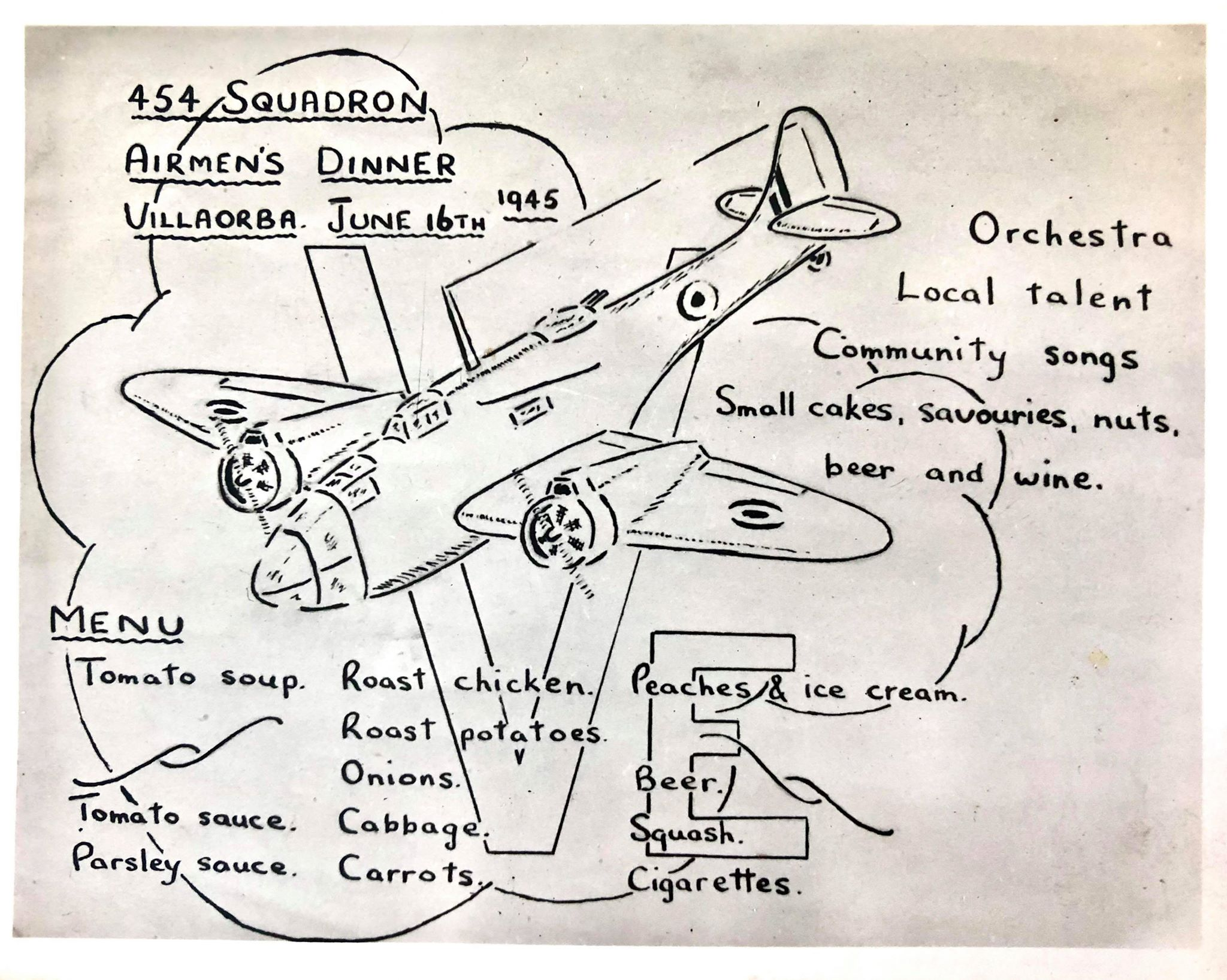 454 Squadron Airmen dinner 12  Jun Villa