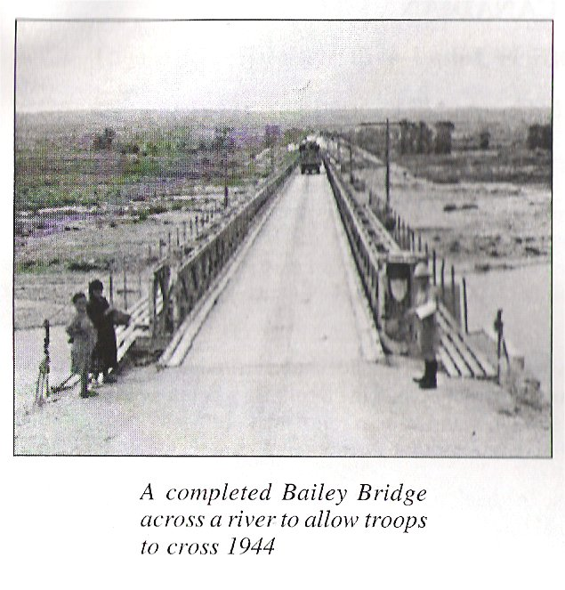 A completed Bailey Bridge 1944