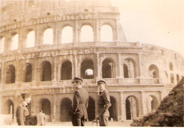 Bob Norman and Joe Aitken outside Coloseum