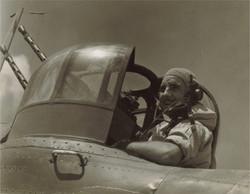 Flying Officer Robers in gun turret