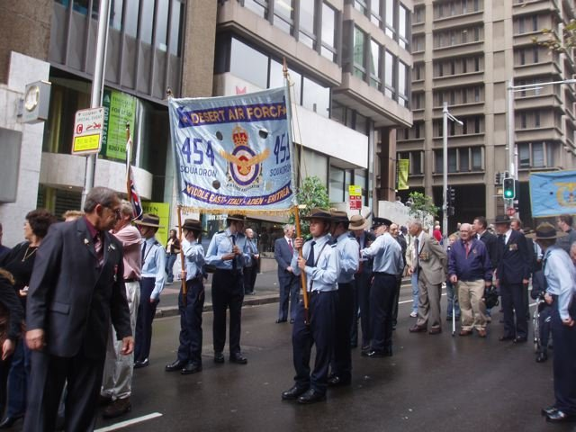 Banner and marchers