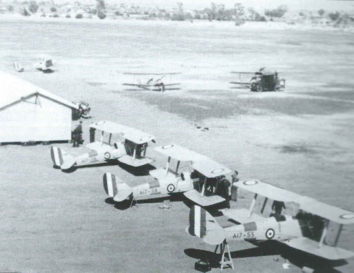Tamworth Tiger Moth training 1940