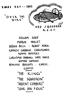 Xmas 1942 menu