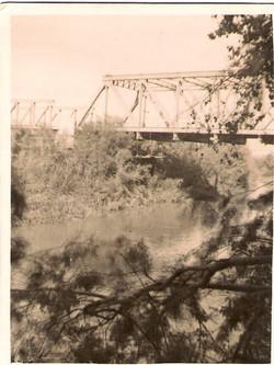 Allenby bridge over river jordan