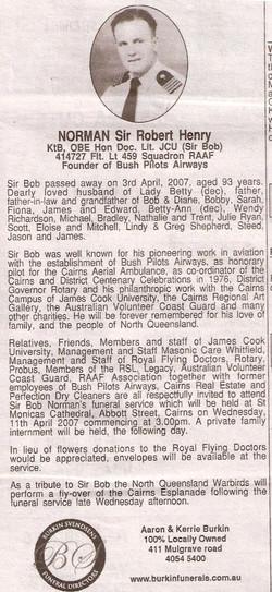 Newspaper eulogy