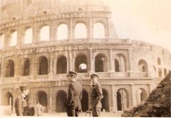 Bob Norman and Joe Aitken outside Coloseum