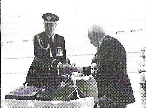 Dedication AWM Plaques hand shake
