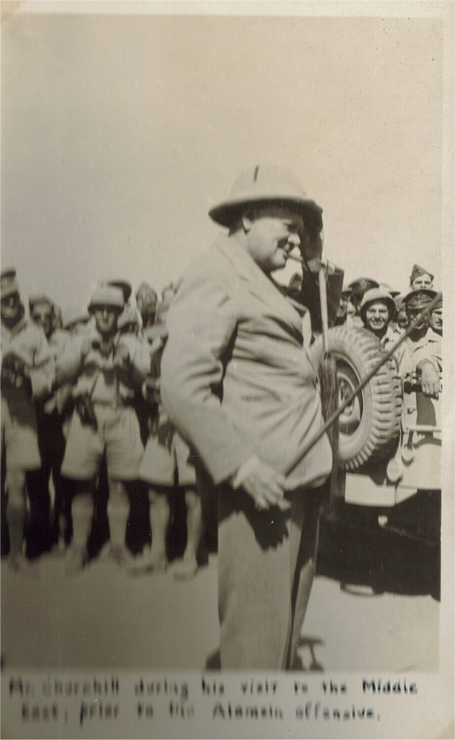 Churchill visit to ME prior to Alamein offfensive