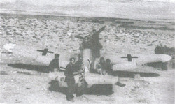 ME 109 German Fighter found in the desert durng a move