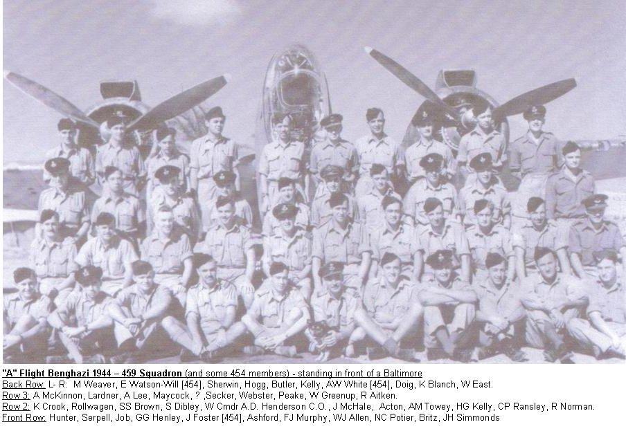 459 Squadron Benghazi 1944