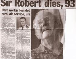 Sir Robert Dies aged 93
