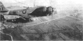 Baltimore Aircraft of 454 Squadron flying over Italy