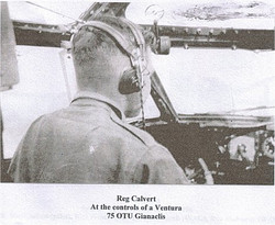 Reg Calvert at the controls