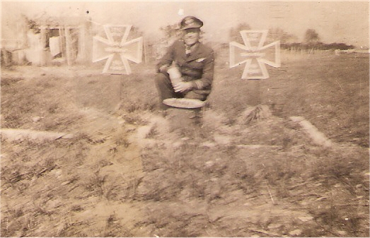 Bill next to German graves