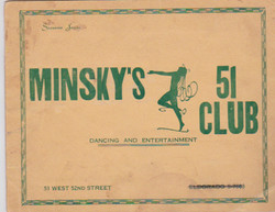 MInsky's 51 Club, Manhattan,bsigned by Giorgia Sothern, page 1 of 3