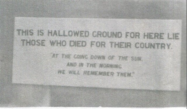 Plaque on a monument at Tobruk