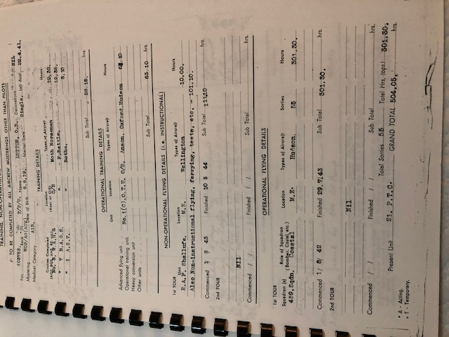 Owen Bernard LUTTON Log book