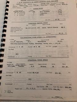 Owen Bernard LUTTON Log book