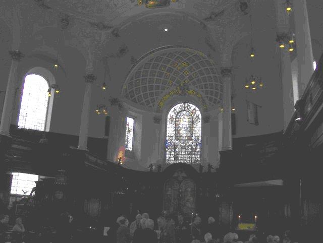 Inside St Clement Danes