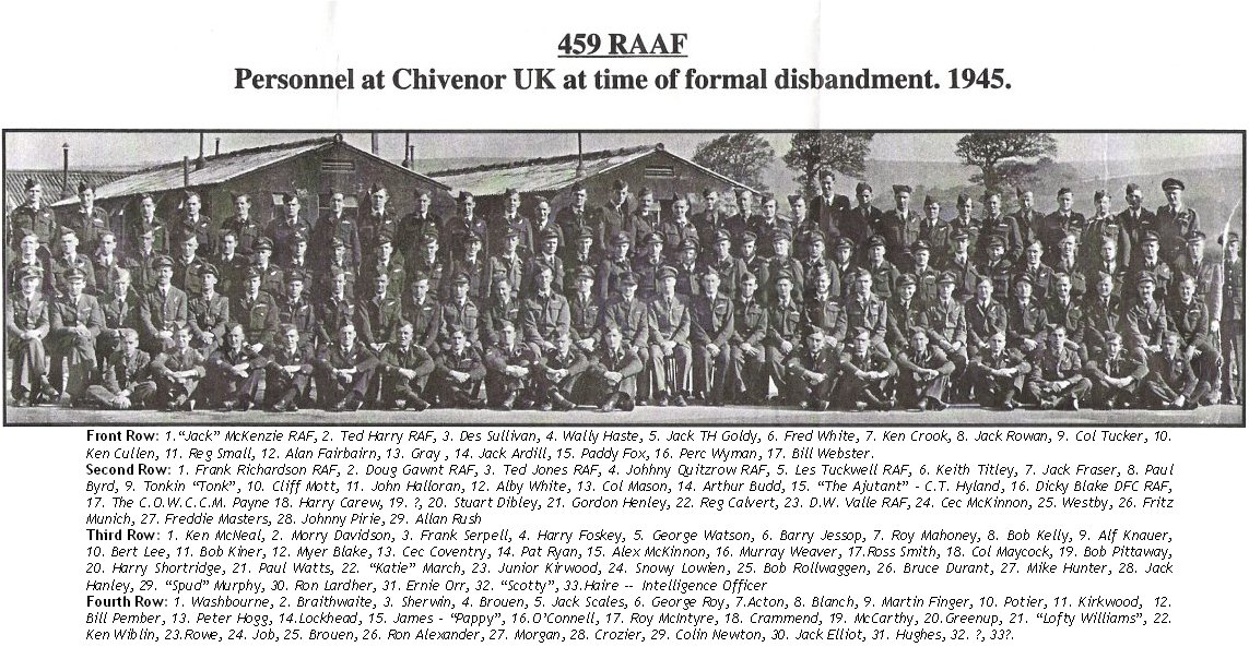 459 RAAF Squadron Disbandment 1945 updated July 2006