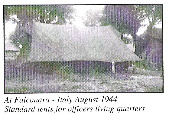 Falconara Aug 1944 standard tent for officers living quarters