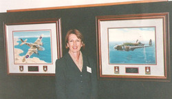 Julie Parsons paintings of planes AWM 1996
