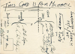 Postcard to Mike Couzens from the crew (1945) - back