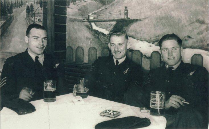 Crew having a beer