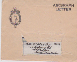 Airgraph from JAck to mother, 14 Dec 1943 in its airgraph envelope