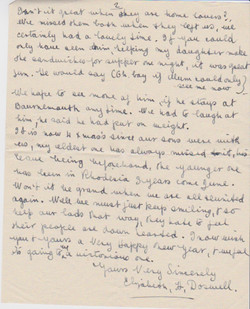 Letter from Elizabeth H Doswell to Mrs Stapleton, Jan 7 1943 (page 2 of 2)