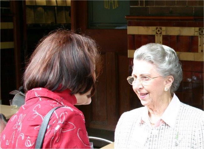 Trish Cassiday & Joan Gray smiling