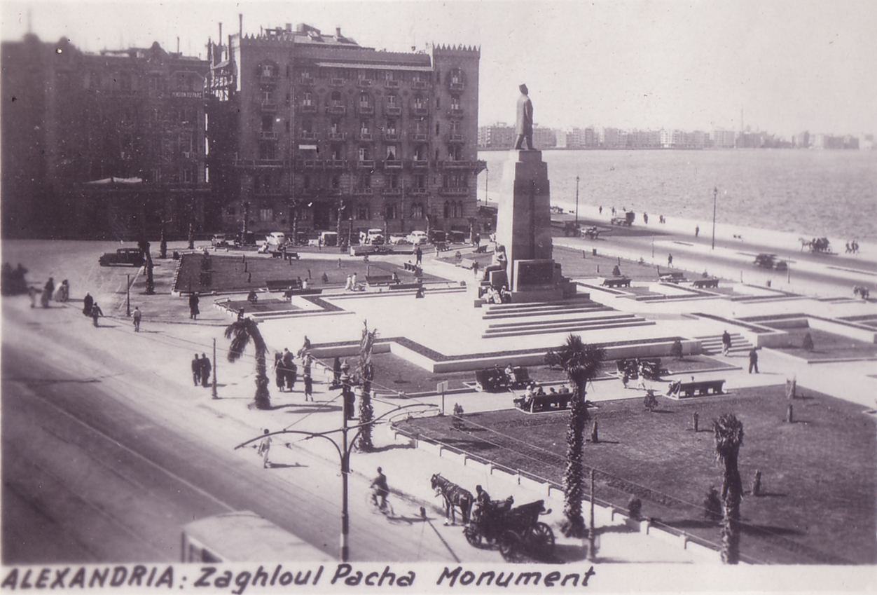 Egypt Alexandria Zaghloul Pasha Monument