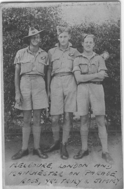 Dad with Jimmy and Ross Smith from Melbourne