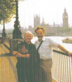 Kev and wife Margaret - Thames Enbankment 1990