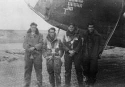 bob mitchell 454  mkid Jan 1945 Cesenatica Italy Max Knight_Taffy AG Max Coghlkin WAG Mitch PIMG_001
