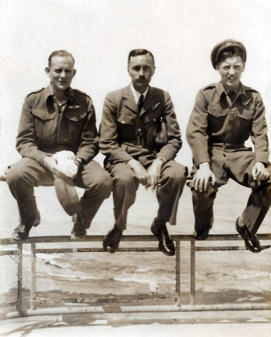 Wally Tite, Mike Couzens & Harry Hays on the promenade in Alexandria - March 1944