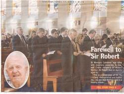 The Cairns Post Farewell to Sir Robert