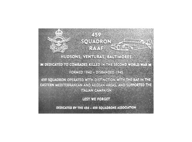 459 plaque Canberra ACT Aust