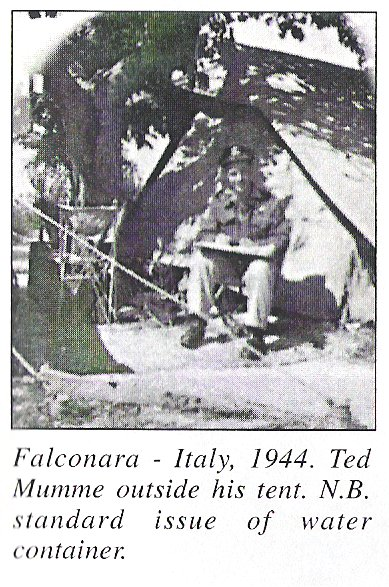Falconara Ital 1944 Ted outside his tent