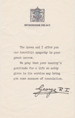 Cover Letter from King George - date unknown 1