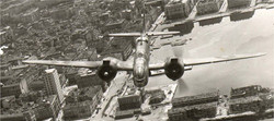 Beaufighter flying over Trieste Italy