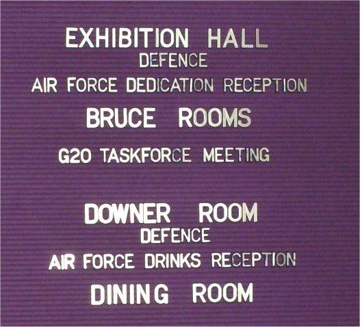 close up Australia House signage
