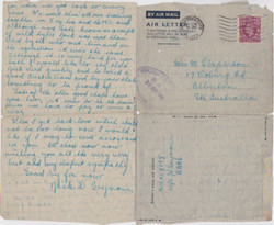 Letter from jack Seymour to Mother June 1945