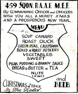 459 Xmas menu 1942