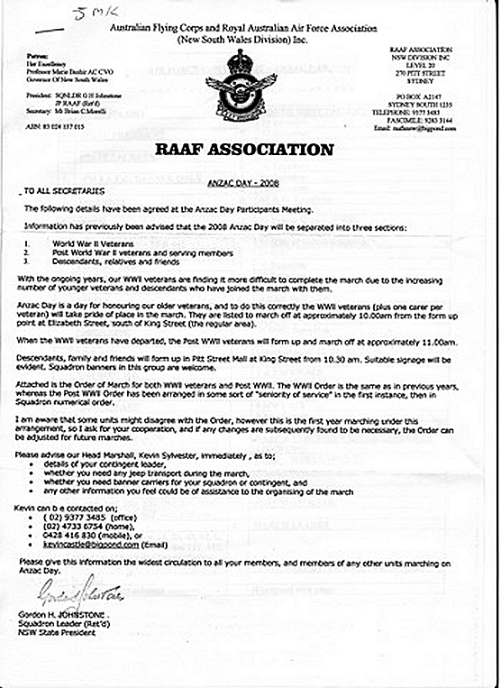2008 March Information RSLs