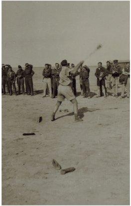 459 Squadron M.E.F. 1942-43 Sports Meet Sgt. Harry Hawkins - shot put