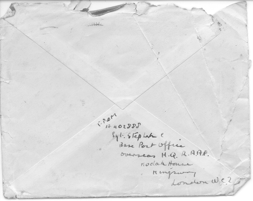 Cam Stephen Envelope  - Back ENVELOPE